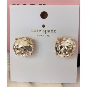 Kate Spade LARGE Gumdrop Stud Earrings & Bag Box